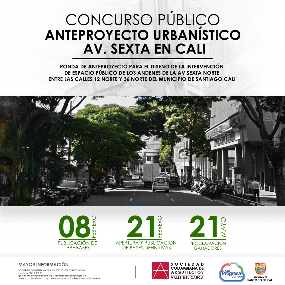 Concurso Público – Anteproyecto Urbanístico Av. Sexta (Bases Definitivas)